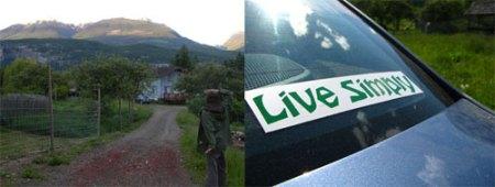 dan et les montagnes + live simply
